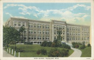 Rockland High School (1934 postcard)