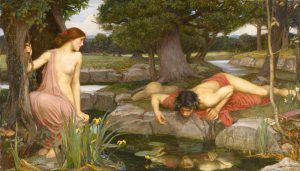 """Echo and Narcissus,"" by John Williams Waterhouse (1903)"