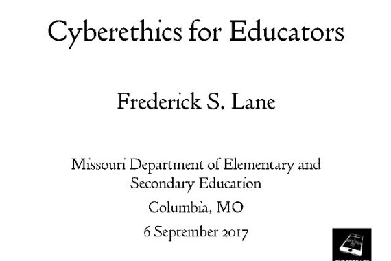 "Cover Slide for ""Cyberethics for Educators"""