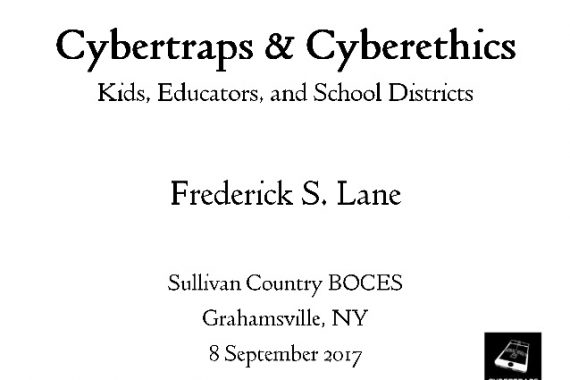Cover Slide for Cybertraps & Cyberethics [2017-09-08]