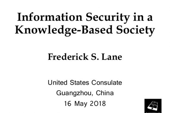 "Cover Slide for ""Information Security in a Knowledge-Based Society"" [2018-05-16]"