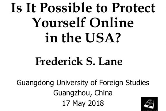 "Cover Slide for ""Is It Possible to Protect Yourself Online in the USA?"" [2018-05-17]"