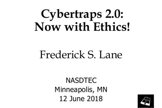 Cover Slide for Cybertraps 2.0: Now with Ethics! [2018-06-12]