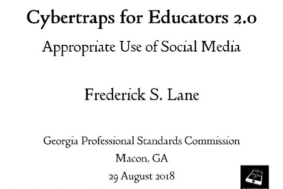 Cover slide for Cybertraps for Educators 2.0: Appropriate Use of Social Media [2018-08-29]