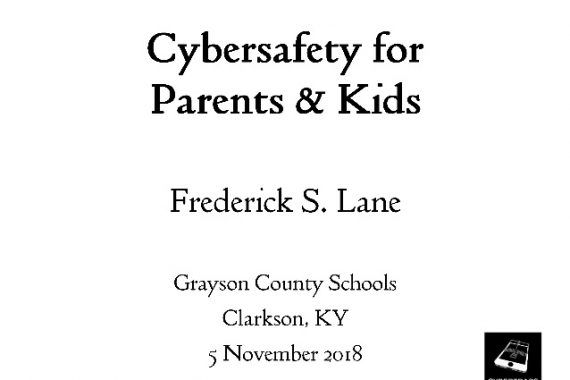 [Slide] 2018-11-05 Cybersafety for Parents & Kids
