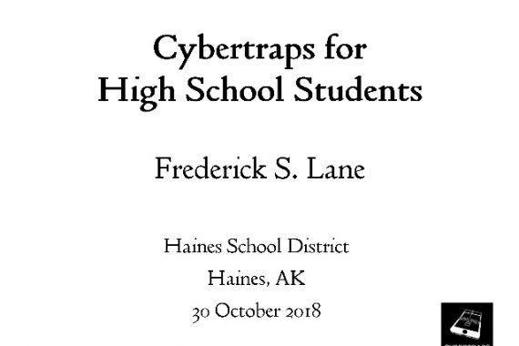 [Slide] 2018-10-30 Cybertraps for High School Students